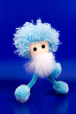 Fluffy blue man Stock Photography