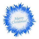 Fluffy blue snowflake on white background in.  Royalty Free Stock Image
