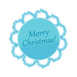 Fluffy blue snowflake on white background Royalty Free Stock Photo