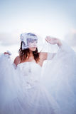 Fluffy bride Royalty Free Stock Photography