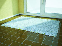 Fluffy carpet on the floor Royalty Free Stock Image