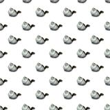 Fluffy cat seamless pattern. Fluffy cat isolated seamless pattern on white background royalty free stock photos