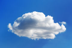 Fluffy chubby white cloud on blue sky. Fluffy and chubby white cloud on blue sky stock photos