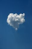 Fluffy cloud as heart Royalty Free Stock Image