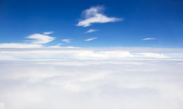 Fluffy cloud on blue sky. Royalty Free Stock Images