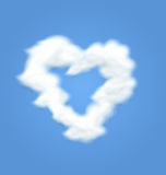 Fluffy Cloud Shape Heart Love Stock Photography