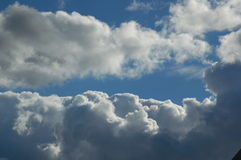 Fluffy Clouds. In a winter sky Stock Photo
