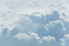 Fluffy clouds. Big soft puffy clouds from plane, above Australia Royalty Free Stock Photography