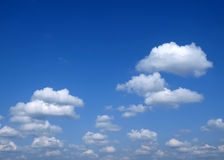 Fluffy clouds. Many Fluffy clouds on the blue sky Stock Photography