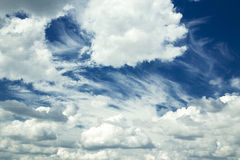 Fluffy clouds Stock Photography
