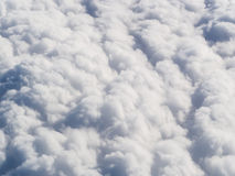 Fluffy clouds royalty free stock photography