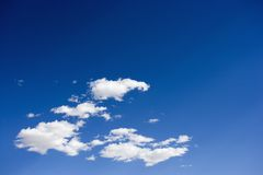 Fluffy clouds. Stock Photography