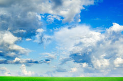 Fluffy clouds Stock Image
