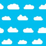 Fluffy clouds background Royalty Free Stock Photo