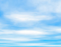Fluffy clouds and blue sky Royalty Free Stock Photos