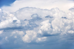 Fluffy clouds in the sky. Fluffy clouds in blue sky Royalty Free Stock Photos