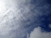 Fluffy Clouds spead in a blue sky Royalty Free Stock Image
