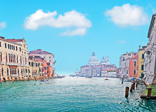 Fluffy clouds in Venice Royalty Free Stock Photography
