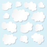 Fluffy Clouds. Fluffy white clouds blue sky stock illustration