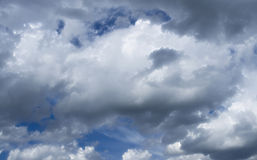 Fluffy Cloudy Blue Sky Scape  Royalty Free Stock Photos