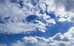 Fluffy Cloudy Blue Sky Scape Royalty Free Stock Photography