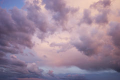 Fluffy cotton wool clouds. Pink dreams Stock Image