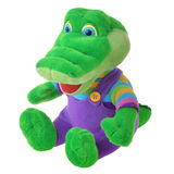Fluffy crocodile toy Stock Images