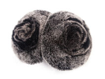 Fluffy ear muffs Royalty Free Stock Image