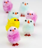 Fluffy Easter Chicks - Macro Shot. Fluffy Handcraft Chicks - Macro Shot. Large group Stock Photography