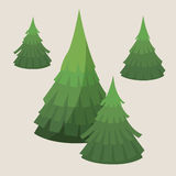 Realistic fluffy fir-trees Royalty Free Stock Photos