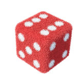 Fluffy Furry Dice. Isolated on the white background Stock Photos