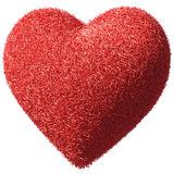 Fluffy furry heart Royalty Free Stock Images
