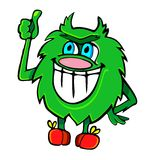 Fluffy green monster Stock Image