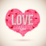 Fluffy heart icon for Your romantic design. Vector Stock Photo
