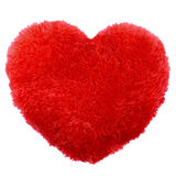 Fluffy heart shape Valentines Day. Pillow. High resolution color image Stock Photo