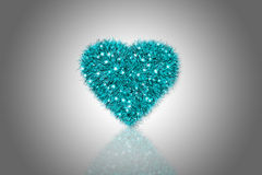 Fluffy Heart Royalty Free Stock Images