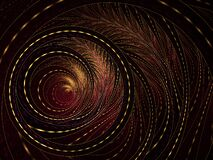 Free Fluffy Helix. Spiral Floral Pattern, Graphic Composition.. An Abstract Computer Generated Modern Fractal Design On Dark Background Stock Photo - 170473110