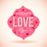 Fluffy icon for Your romantic design. Vector illustration. Royalty Free Stock Photography
