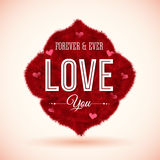Fluffy icon for Your romantic design. Vector illustration. Stock Photography