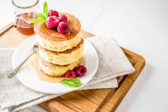 Fluffy Japan pancakes royalty free stock photos