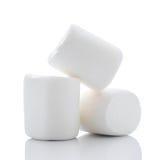 Fluffy Marshmallows. Large Marshmallows  on white Stock Photos