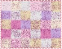 Fluffy mohair plaid with checkered pattern in pastel colors Stock Photography