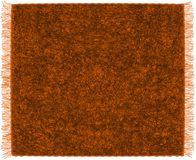 Fluffy mohair plaid with fringe in brown,orange colors Stock Photography
