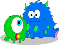 Fluffy Monsters Royalty Free Stock Image