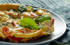 Fluffy Omelet with Vegetables Royalty Free Stock Image