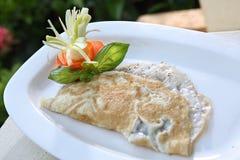 Fluffy Omelette, `awmalit raqiq, Fluffy aamalet stock image