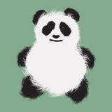 Fluffy panda Royalty Free Stock Photography