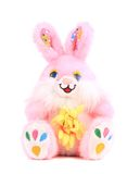 Fluffy pink foxy rabbit. Royalty Free Stock Images