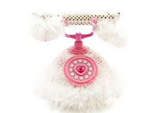 Fluffy pink phone Royalty Free Stock Photo