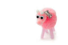 Free Fluffy Pink Pig Stock Images - 51231284